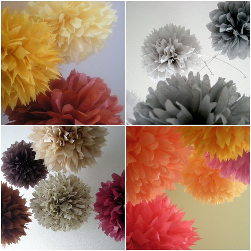 Pom pom collage