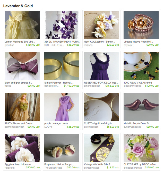 Lavender gold earth friendly green wedding wedding vintage butterflies