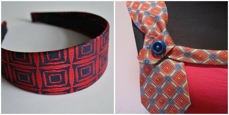 recycled, upcycled, men's ties, neckties, weddings, headband, tank top, earth friendly, green weddings, eco chic
