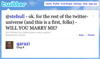 Twitter marriage proposal