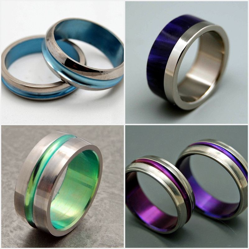 titanium, wedding bands, rings, space-age, something blue, geek chic, computers, weddings