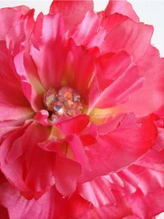 hot pink, bright pink, crystal, vintage, peony, flower, for the cure, cancer research, ,