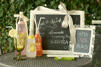 DIY wedding, lemonade, garden wedding