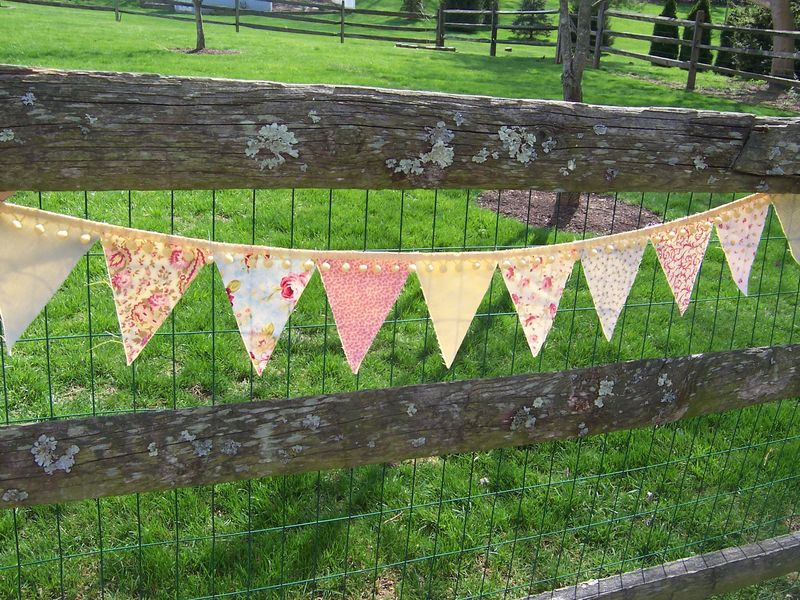 vintage fabric flag bunting