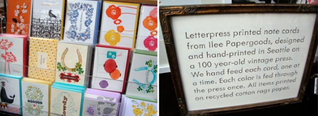 Ilee Papergoods, letterpress, seattle square market, seattle