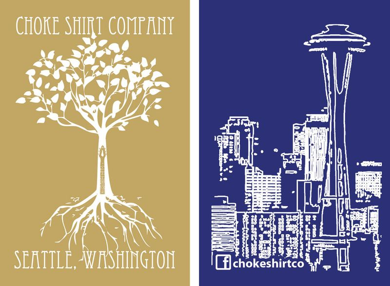Choke Shirt Company, Seattle Square, Seattle, Weddings, t-shirts, custom, printed