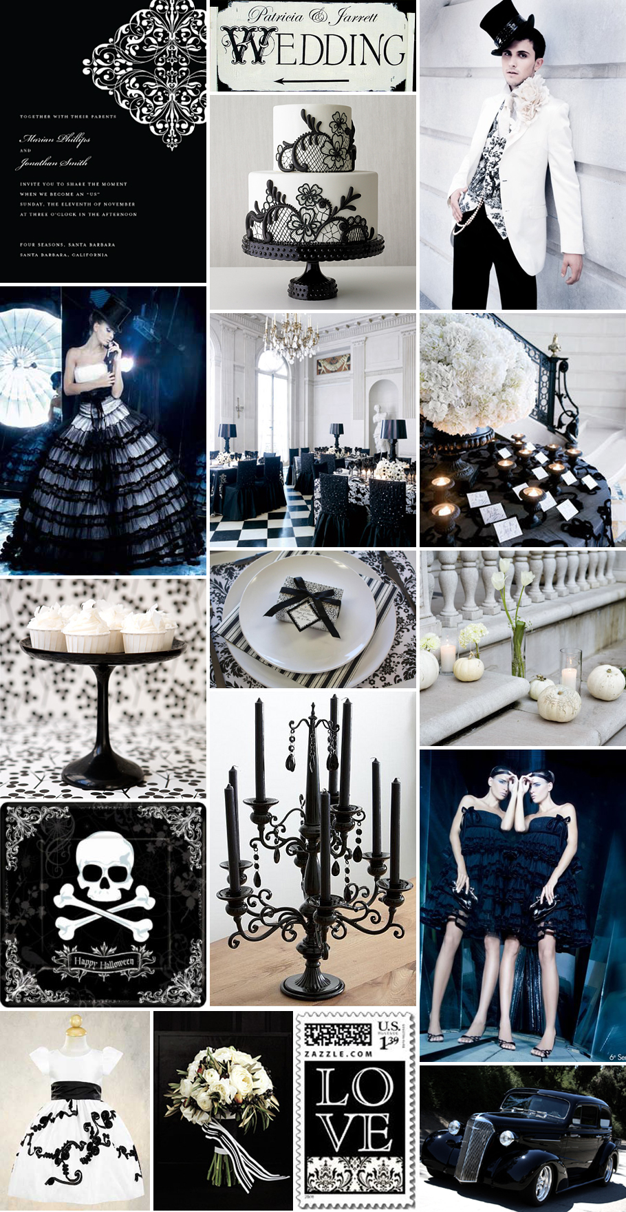 Halloween (Wedding) Party Inspiration - Gothic Glamour - The Brass ...