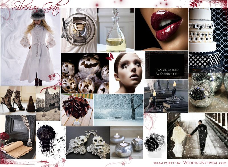 Siberian-Goth-_-Inspiration-Board-_-Wedding-Nouveauy