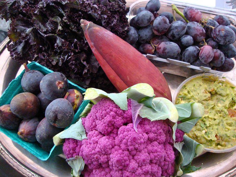 Black and purple produce