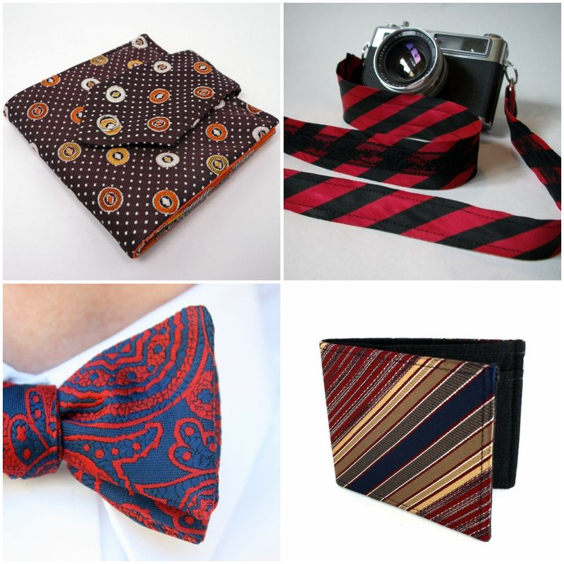 recycled, upcycled, men's ties, neckties, weddings, wallet, camera strap, bow tie, accessories, earth friendly, green weddings, eco chic
