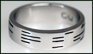 silver, binary wedding band, ring, geek chic, computers, weddings