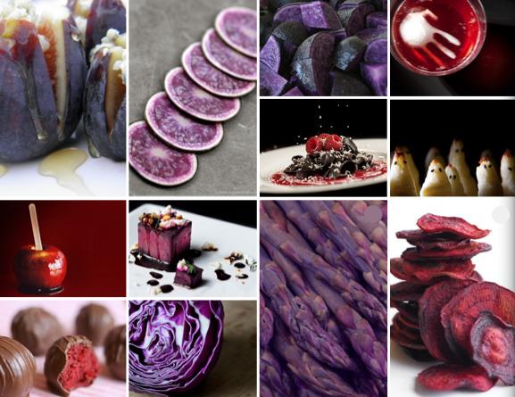 Purple & red