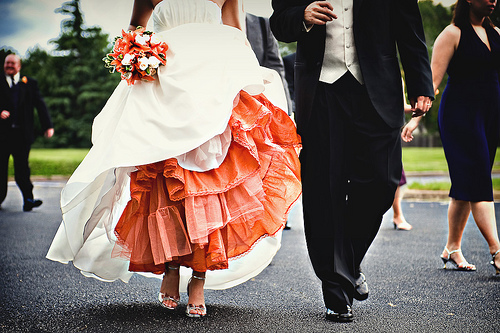 Orange Dyed Wedding Crinoline