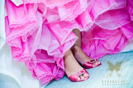 Hot Pink Dyed Wedding Cinoline