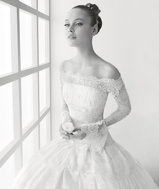 Rosa Clara Long Sleeve Lace Wedding Gown