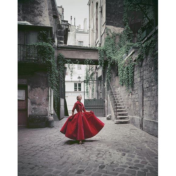 Chanel Red Velvet Dress