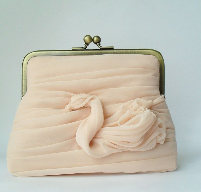 chiffon purse with swan