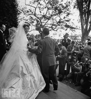 "Elizabeth Taylor, first wedding to Conrad ""Nicky"" Hilton"