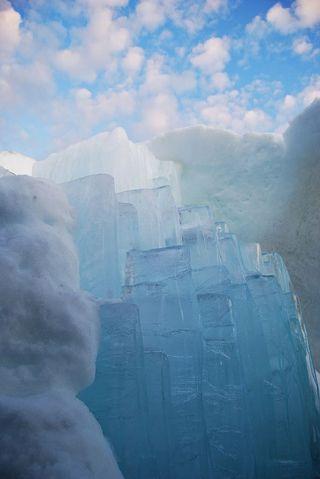 Melting room at IceHotel Sweden
