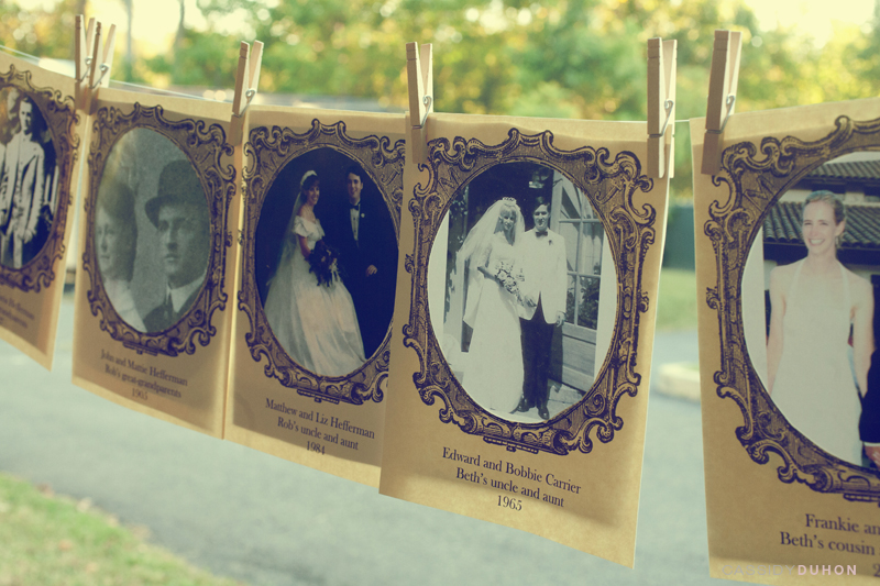 DIY: Vintage Wedding Photo Display - The Brass Paperclip Project