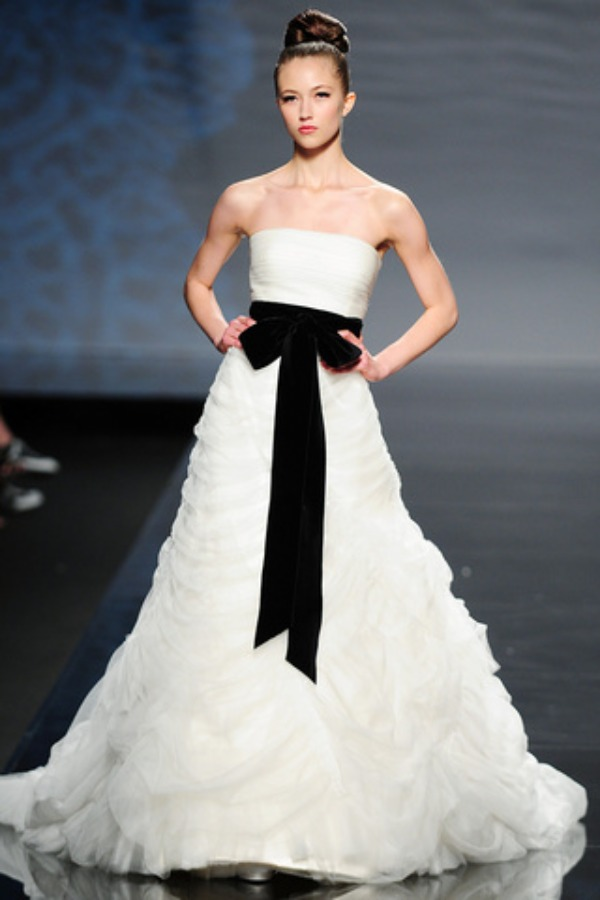 Rosa Clara Wedding Gown with Black Sash