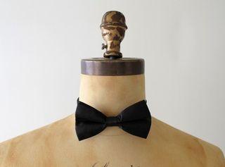 vintage black bow tie