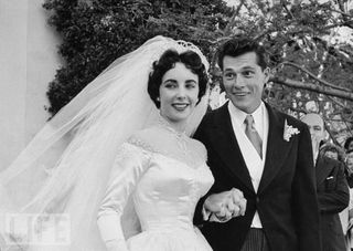 "Elizabeth Taylor and Conrad ""Nicky Hilton, wedding"