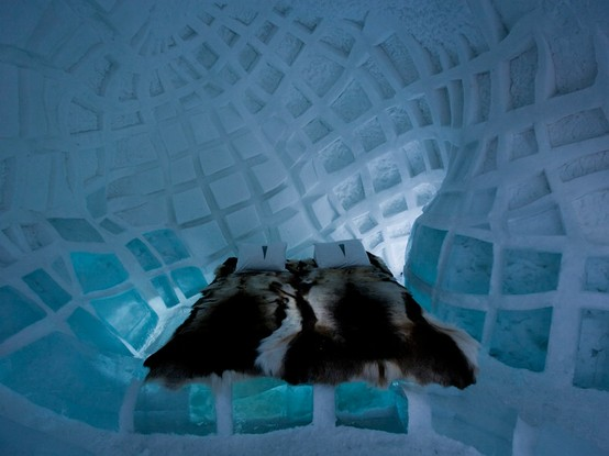 Ice Hotel art suite