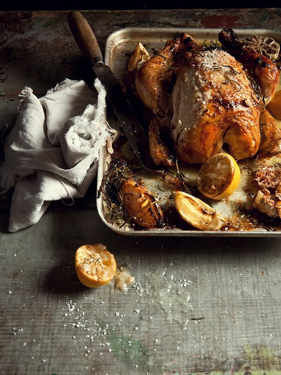 Preserved Lemon and Rosemary Roast Chicken