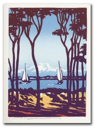 Golden Gardens Block Print
