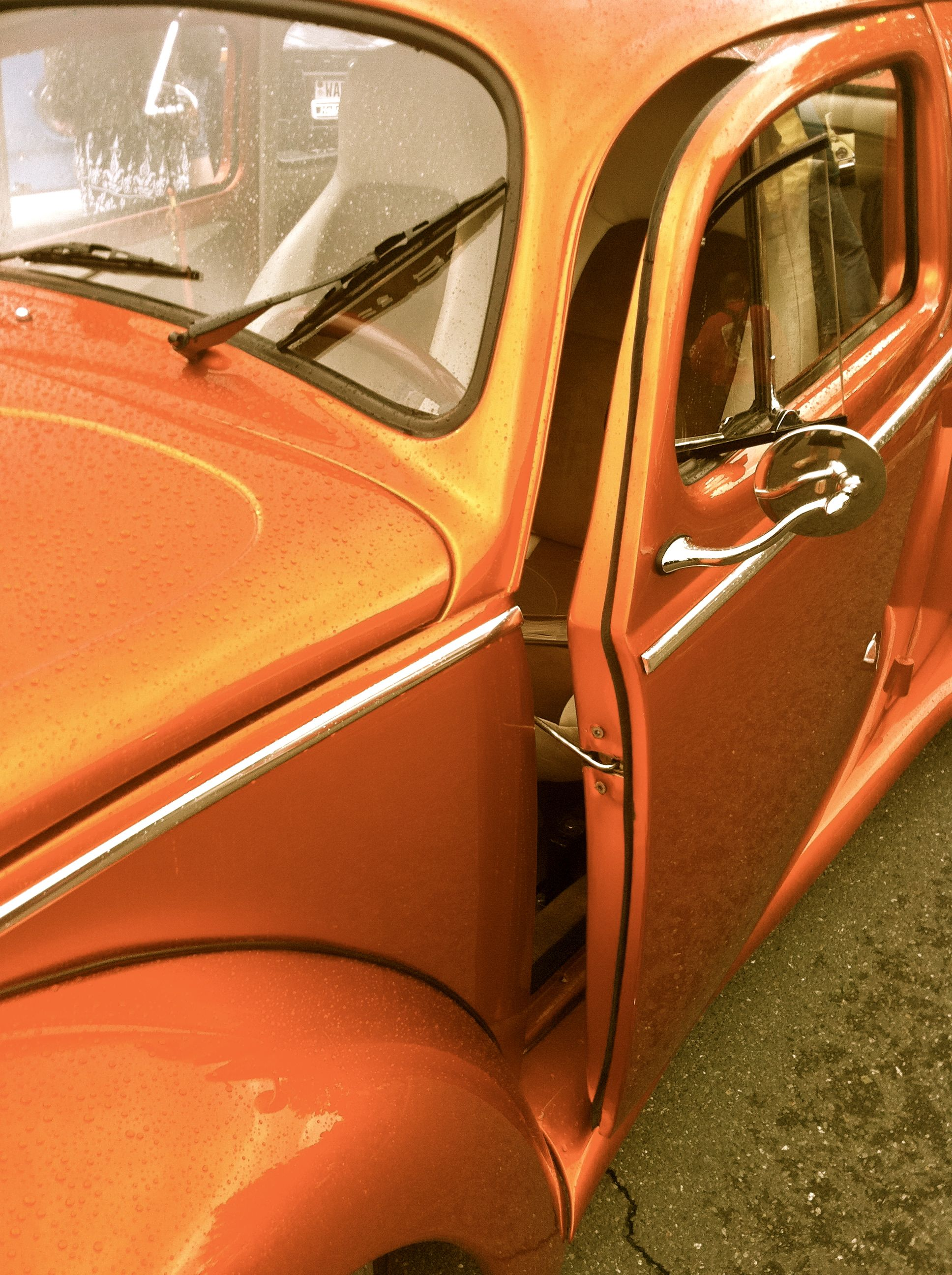 Vintage Vw Bug With Door