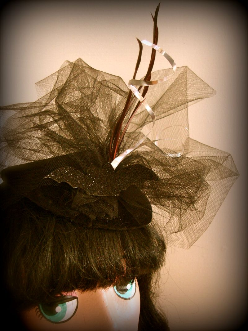 DIY Burlesque Hat, Halloween Hat, Bat