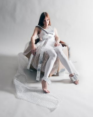 Shaun Schroth Bubble Wrap Dress