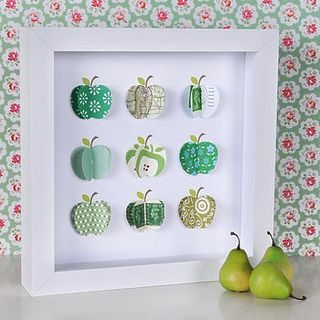 Rosh Hashanah crafts - 3D apple card