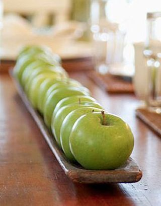 Green apple centerpiece - Rosh Hashanah
