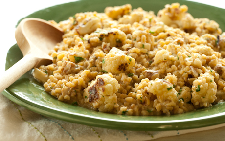 kamut & roasted cauliflower risotto