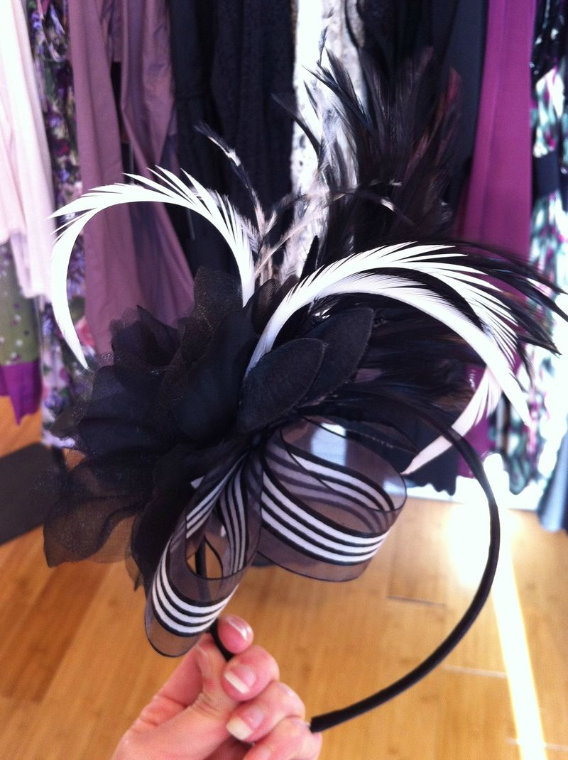 Suzy Fairchild fascinator, Frock Shop