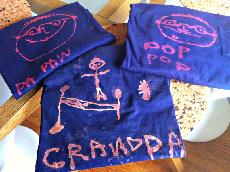 DIY bleach pen t-shirts, father's day