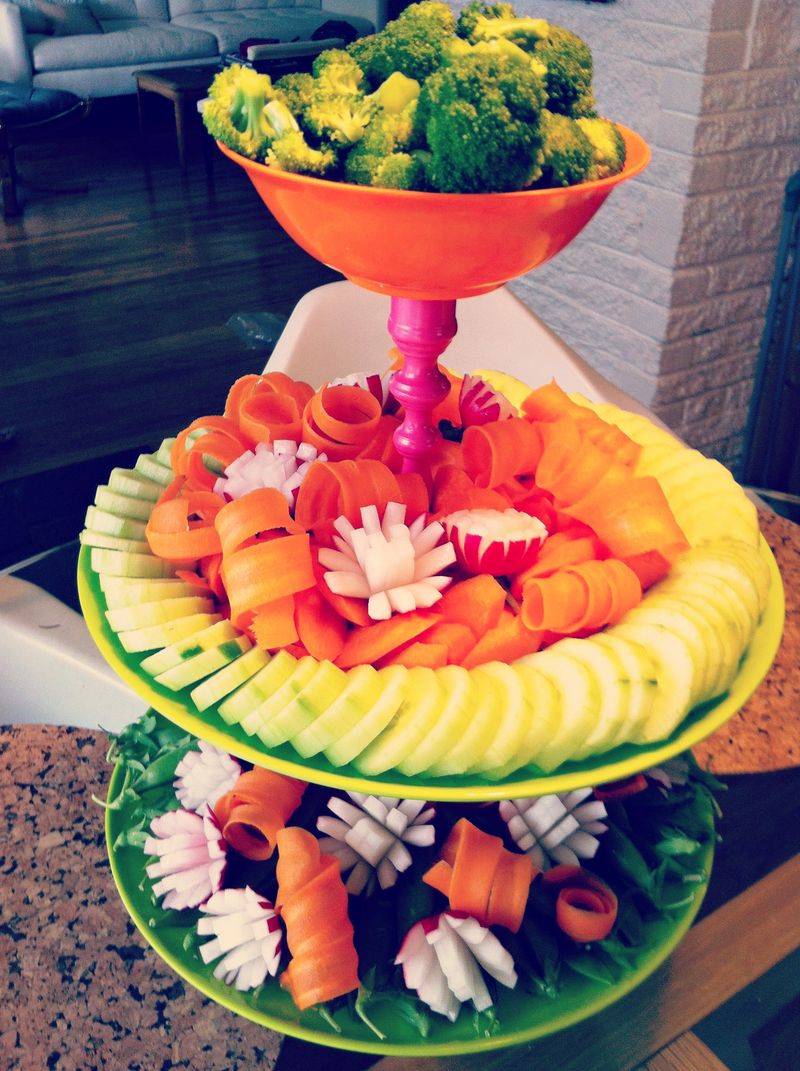 Oh, The Places You'll Go Dr. Seuss Inspired Vegetable Tower, crudite