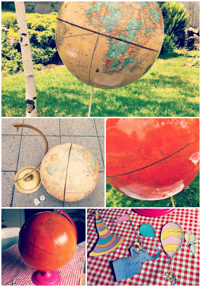 DIY Decoupage Globe