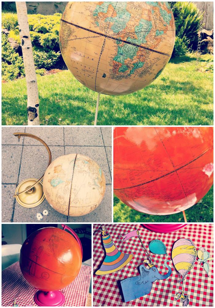 DIY Decoupage Globe
