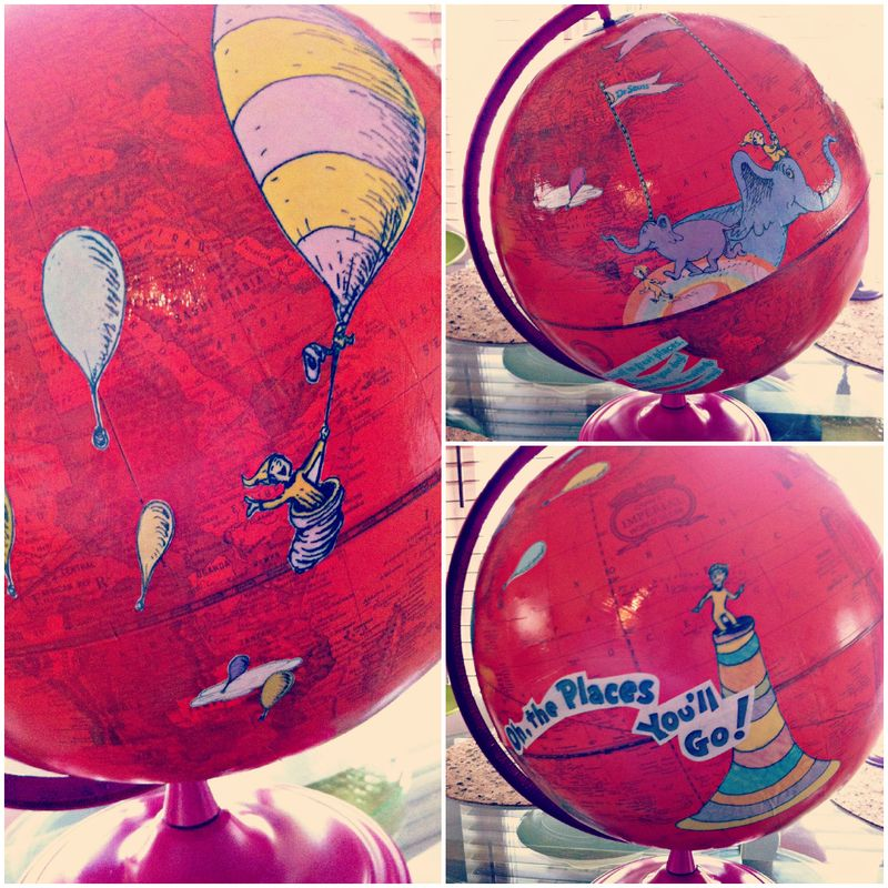 DIY Dr. Seuss Decoupaged Globe
