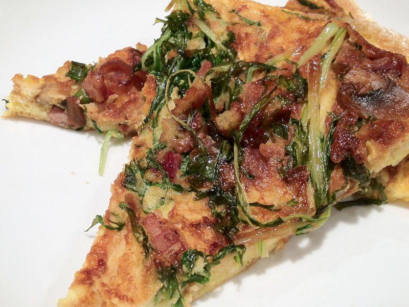 Bacon Mizuna Frittata