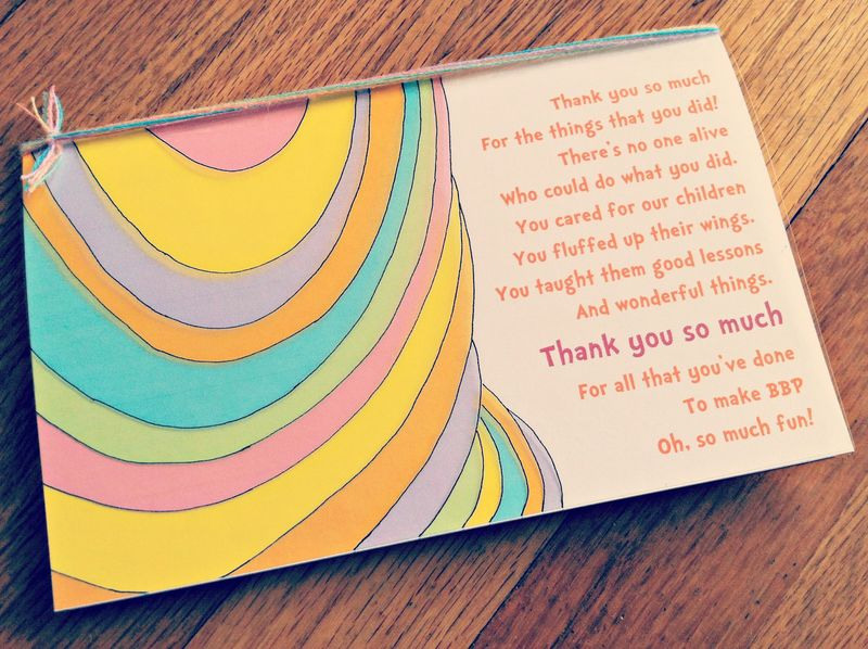 Oh, The Places You'll Go, Teacher Thank You Card