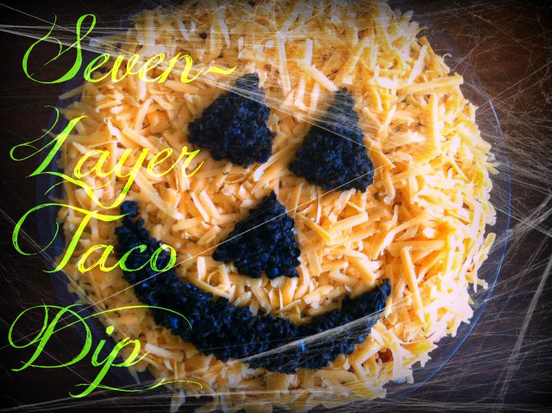 Frightfully good 7-layer taco dip.