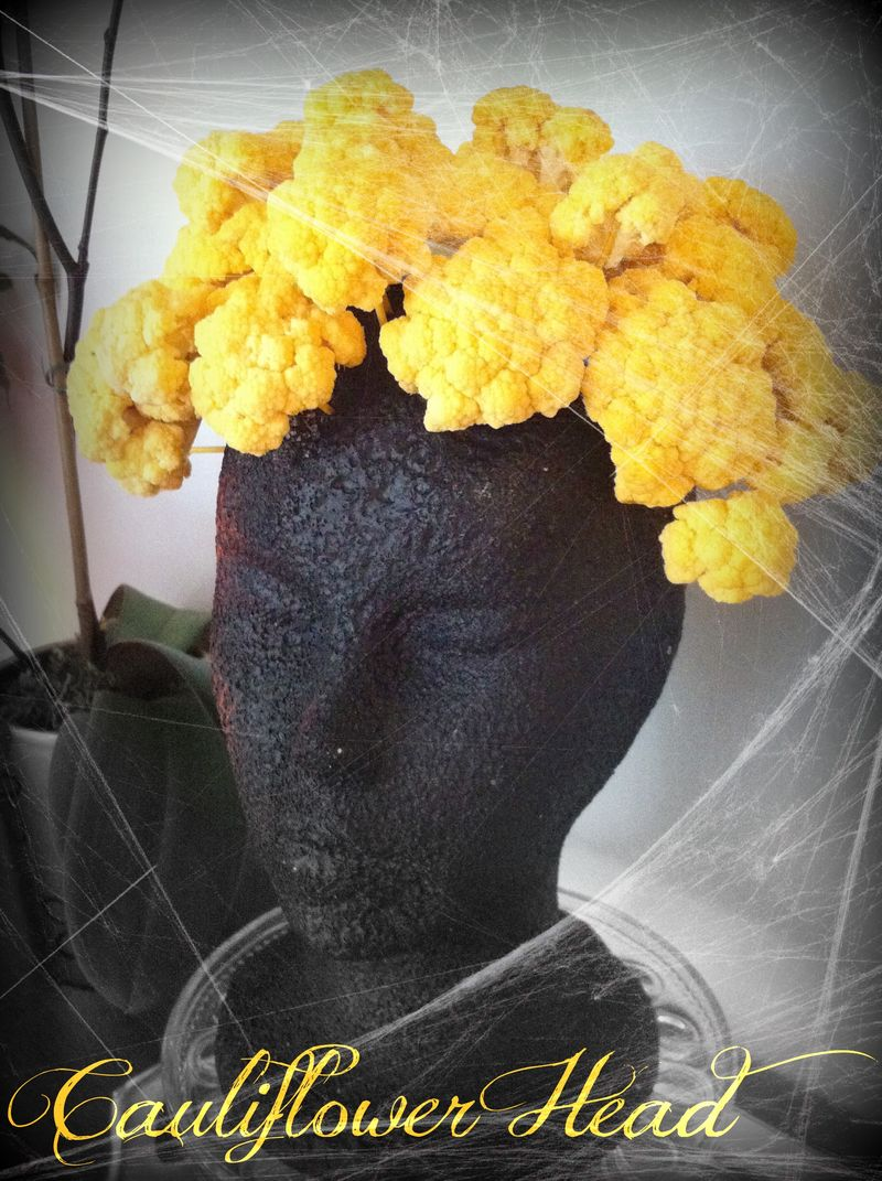 Cauliflower Head for Halloween
