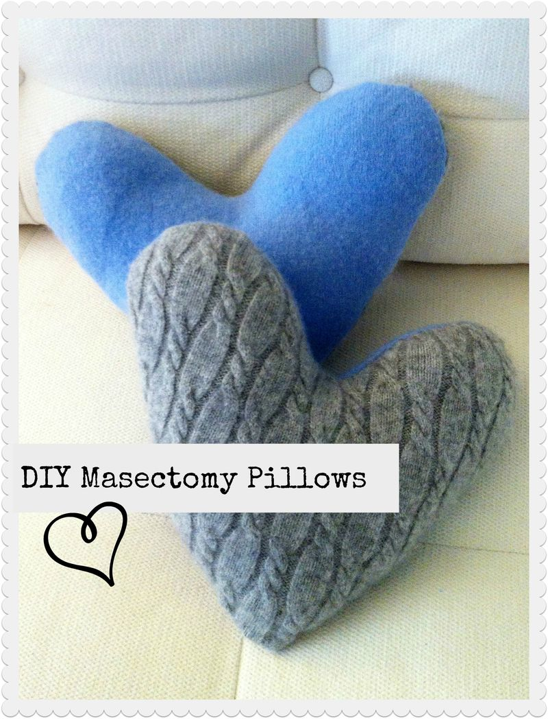 DIY masectomy pillows made from upcycled cashmere sweaters.