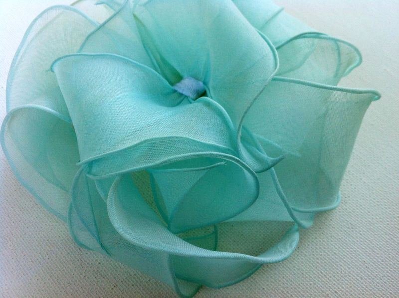 Hello 1960s!  Super cute petal hat...love the color!  #Seafoam #Aqua