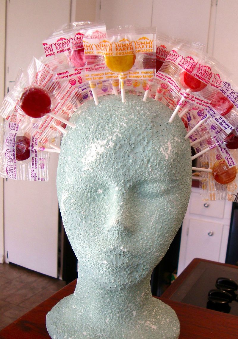 Lollipop Head Halloween candy display