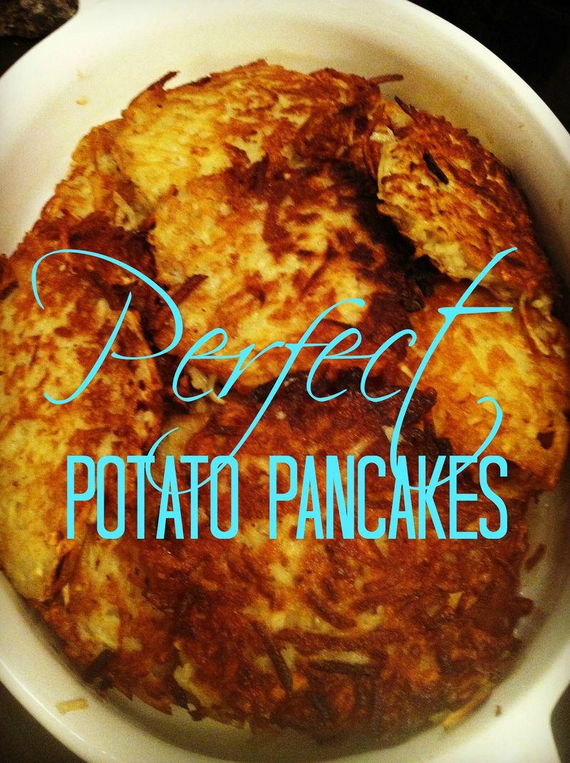 How to make Perfect Potato Pancakes...yum!